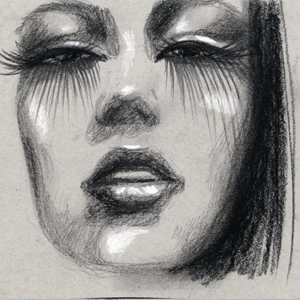 Charcoal sketches.